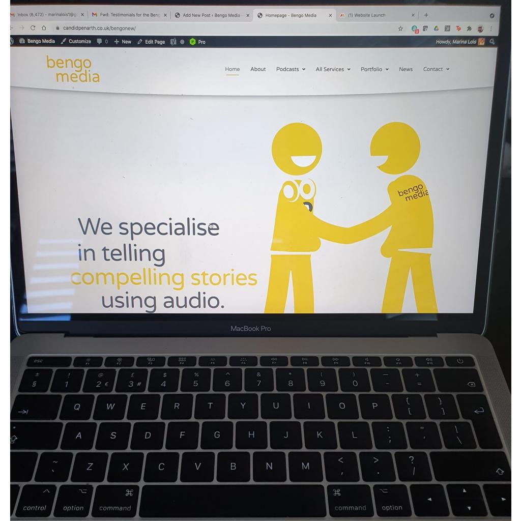 New Bengo Website on Laptop